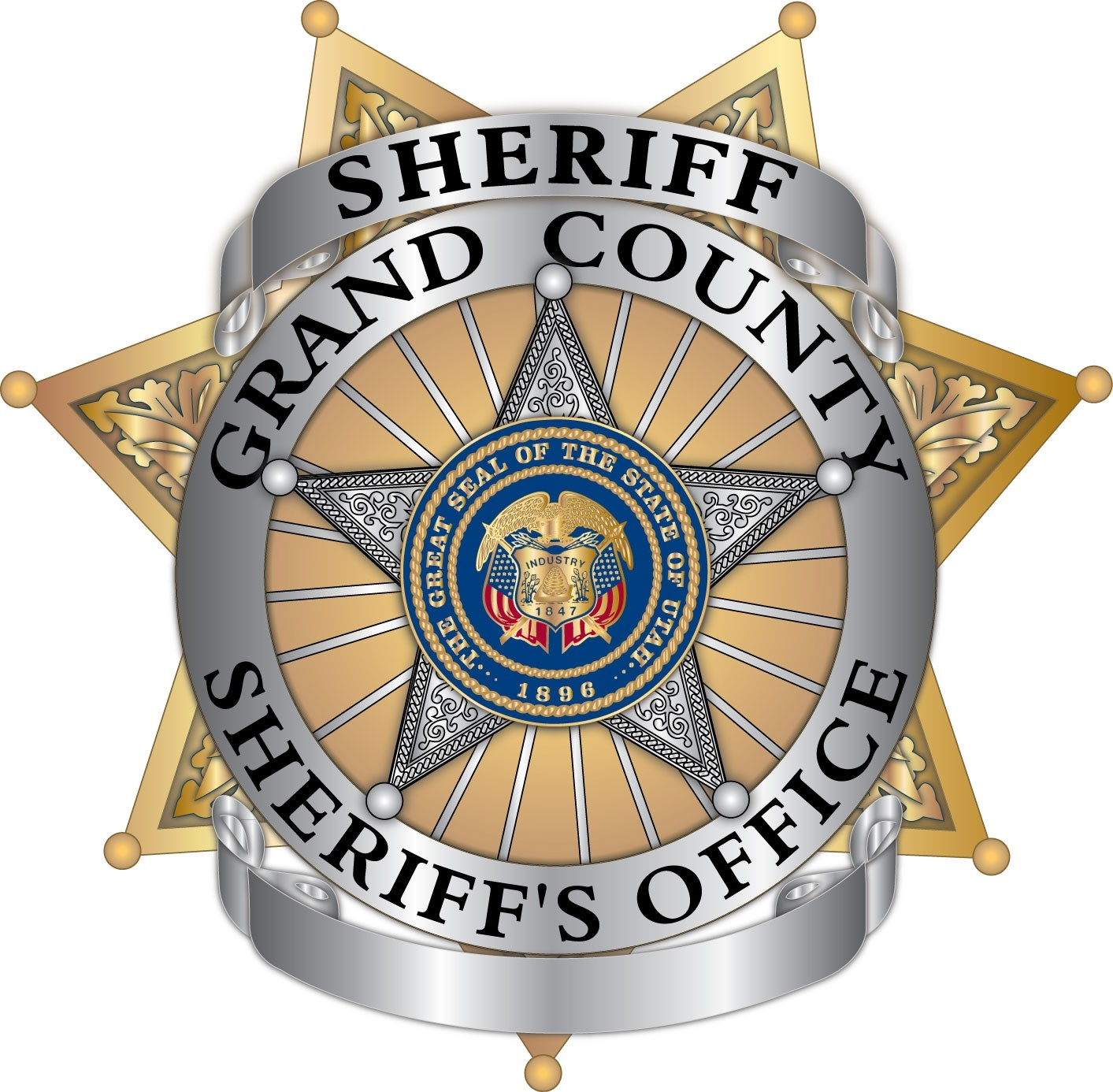 Grand County Utah Sheriff Blank Badge