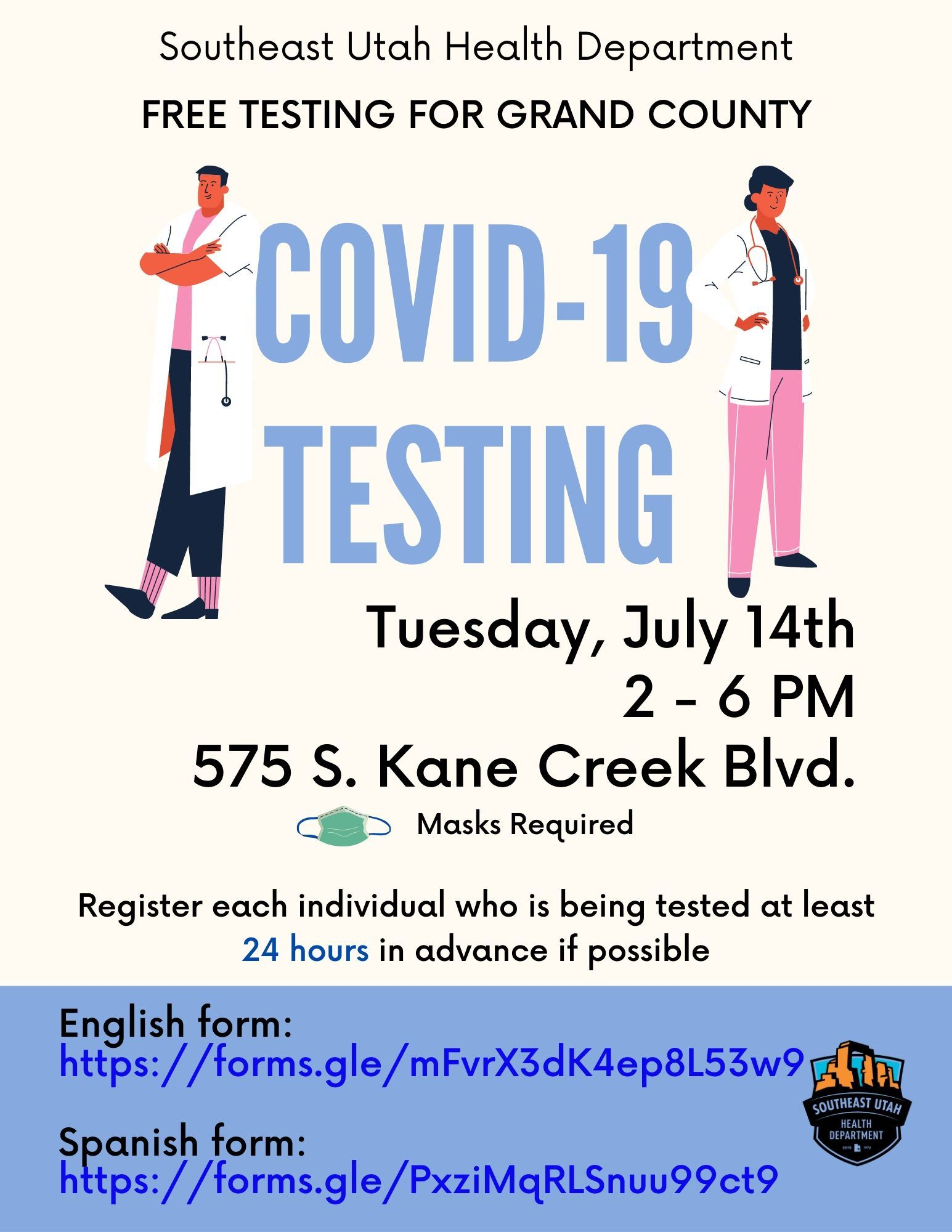 COVID 19 Testing GC Flyer - English corrected