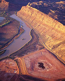 Birds Eye View of Moab Tailings
