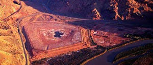 Overhead View of Tailings at Moab Site