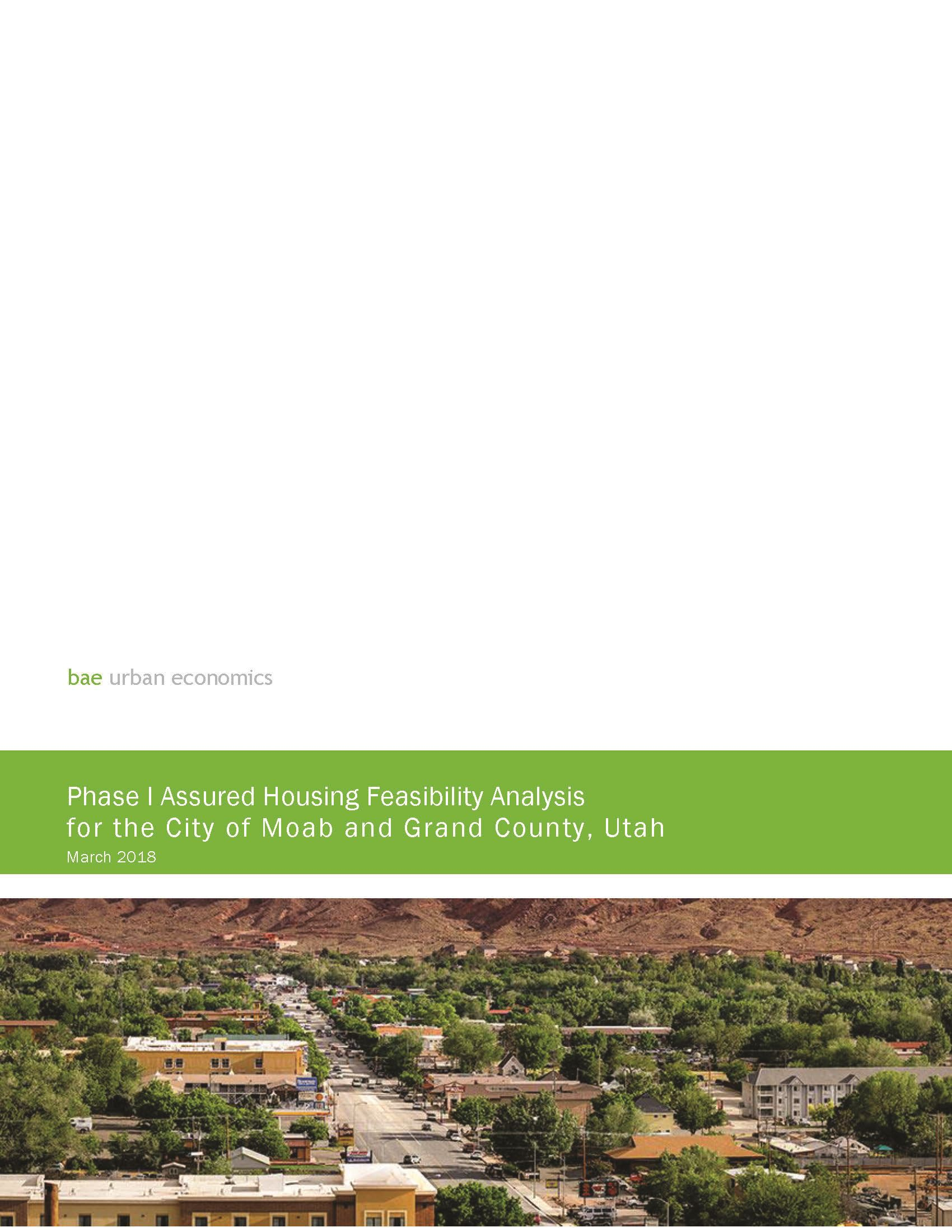 Phase 1 - Economic Feasibility Report - Moab Area Assured Housing